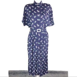 All That Jazz Vintage Late 80s Floral Mom Dress